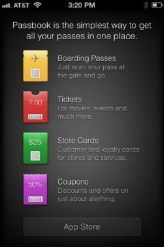 PSA Passbook supported apps now listed in iOS 6 App Store