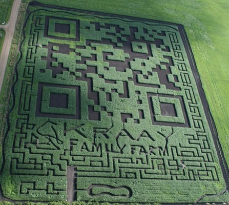 Visualized World's largest QR code is a Canadian maize maze