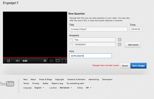 YouTube brings interactive quizzes to videos with Questions Editor beta