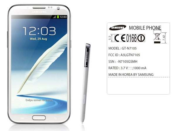 Galaxy Note II makes first FCC appearance, lacks USfriendly LTE bands