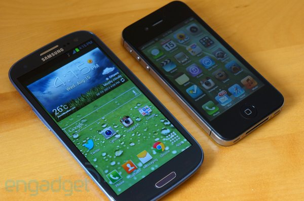 Samsung Galaxy S III and iPhone 4S