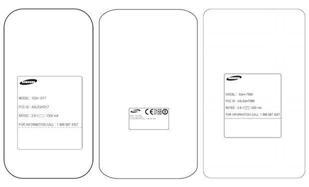 Samsung Galaxy Note II variants for AT&T, TMobile, Verizon possibly caught at the FCC
