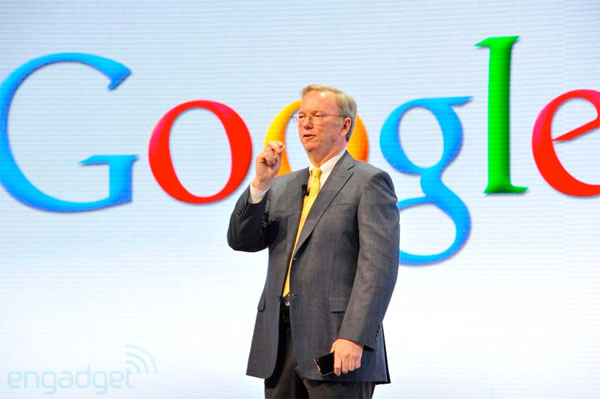 Google's Eric Schmidt 13 million Android activations a day, 480 million devices worldwide