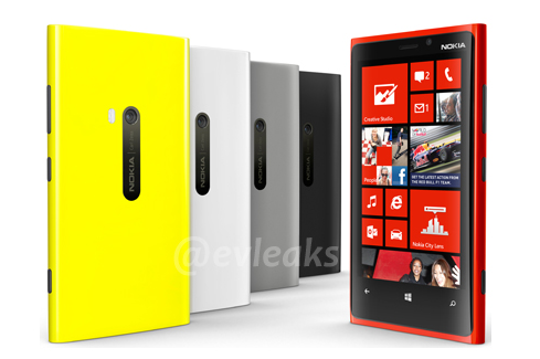 Leaked photo shows Nokia Lumia 920 with five color options