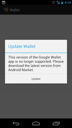 Verizon Galaxy Nexus owners lose Google Wallet access