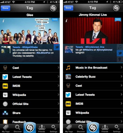 Shazam now rides shotgun with any TV show in the US, gets cozier with Facebook on the couch