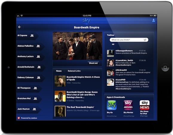 Sky launches 7day Catch Up TV, 2TB HD DVRs and adds zeebox extras to its iPad app