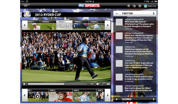 Sky Sports for iPad update brings second screen to UEFA Champions League, Ryder Cup