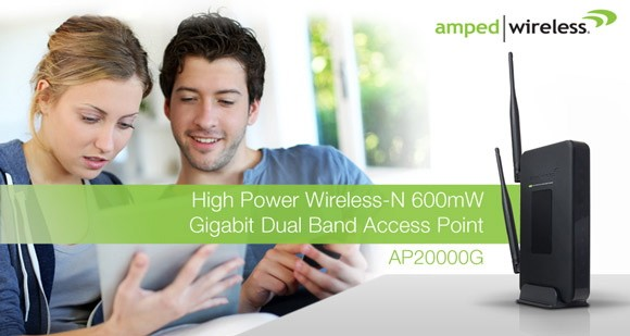 Amped Wireless adds a dualband access point to its range of superstrength networking gear