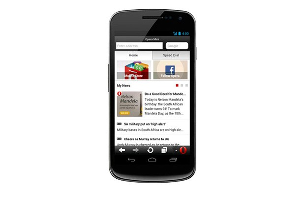 Opera Mini 75 update for Android adds Smart Page for social networking and news updates
