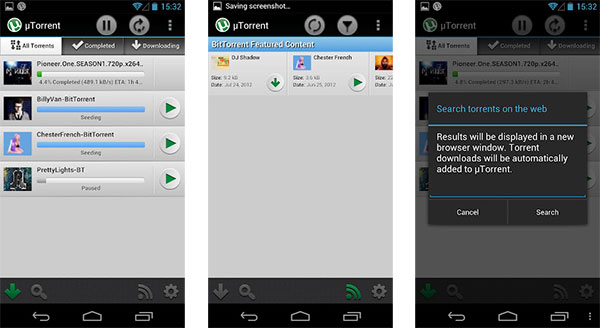 utorrent app for android tablet free download