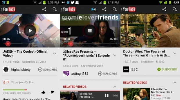 YouTube's Android app brings preloading to Froyo and Gingerbread, YouTube TV queuing