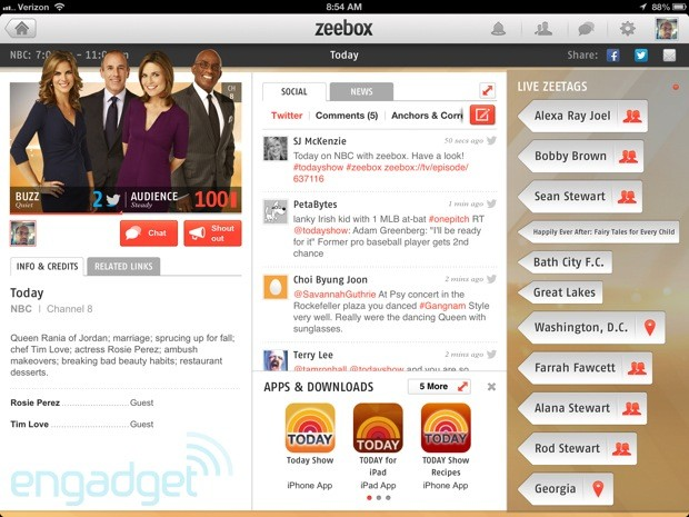 zeebox second screen TV companion crosses the Atlantic, with a boost from Comcast and HBO