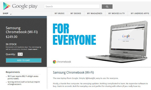 ARMpowered Chromebook lands at Play store for $249