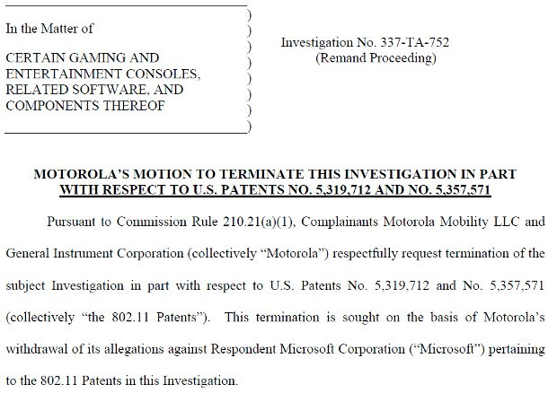 Motorola scales back ITC case against Xbox, drops WiFi patent complaint