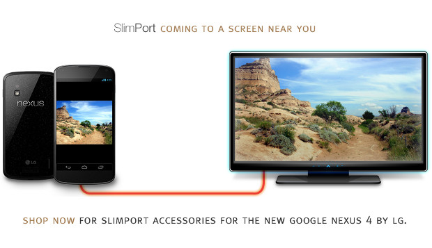 Nexus 4: supporto anche a SlimPort per condividere il display via cavo