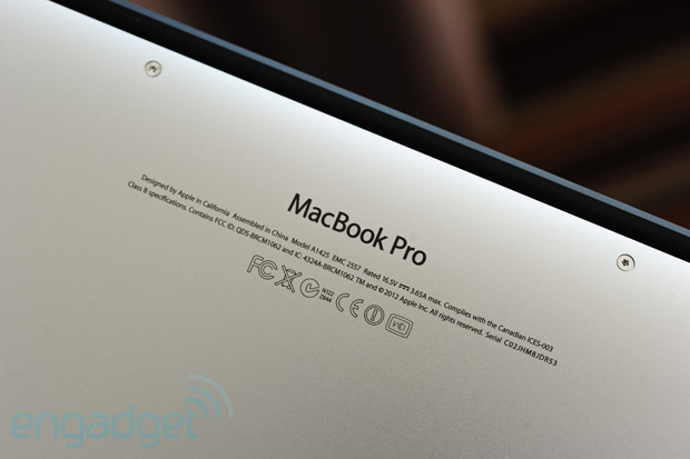 MacBook Pro with Retina display review 13inch, late 2012