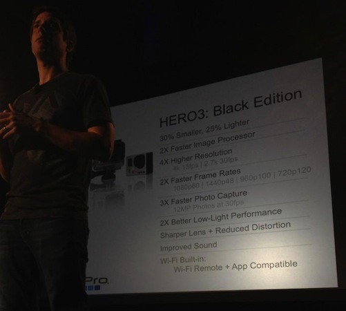 GoPro's new Hero3 is lighter, faster, higher res and has builtin WiFi, comes in three flavors