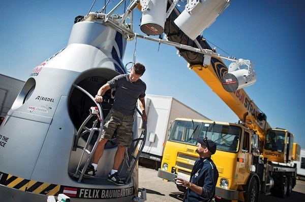 Watch Felix Baumgartner's space dive live right here at 930AM ET update more delays