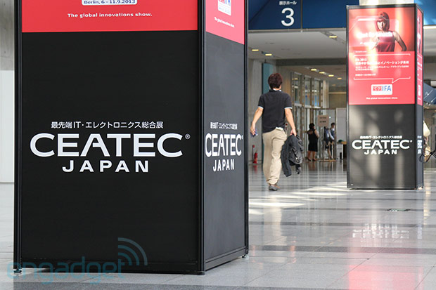 We're live from CEATEC 2012 in Chiba, Japan!