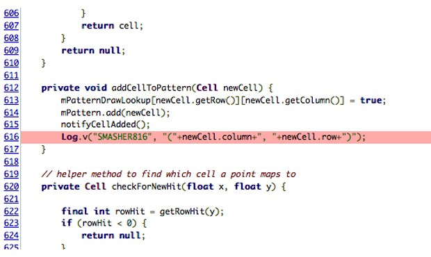 Line of CyanogenMod code means unlock gestures may have been logged locally on handsets