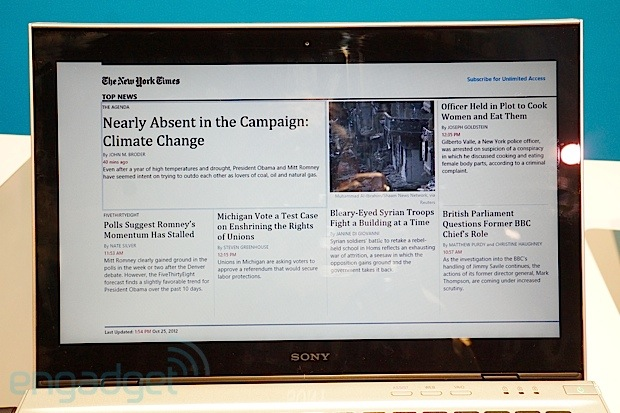 New York Times for Windows 8 handson video