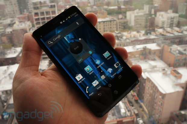 Sony Xperia TL for AT&amp;T handson