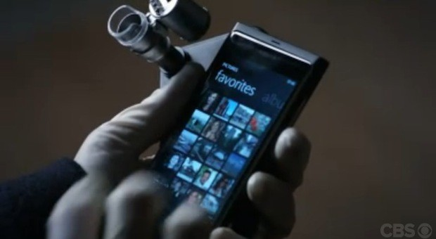 Screen Grabs Elementary pilot has Sherlock Holmes using murder victim's Lumia 800