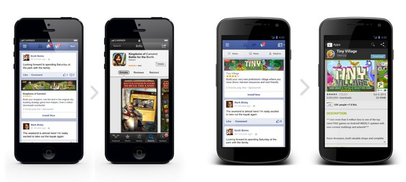 facebook mobile app ads ios android Facebook opens mobile ads for apps to all developers, keeps them on the money train