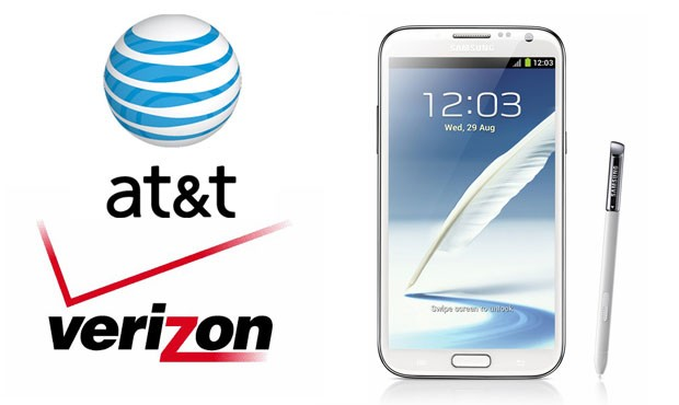 Verizon, AT&T put Samsung's Galaxy Note II on presale for $  299 with a twoyear contract