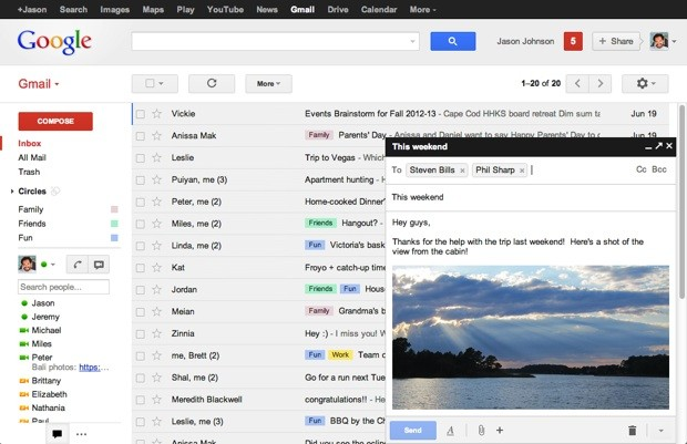 Gmail composer goes to a simple popup, gives multitaskers freedom to fly