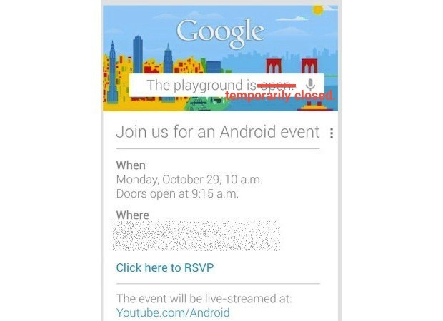 Google scrubs October 29th event over Hurricane Sandy worries
