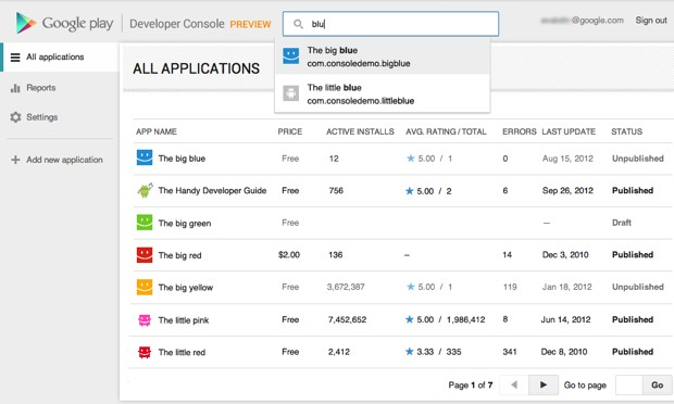 Google revamps its Developer Console for Google Play, eases tracking Android apps over time