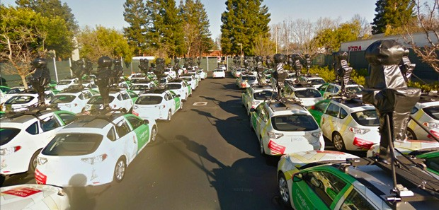 google street view car parking lot masrur odinaev Google Street View car fleet gets ready to conquer (and map) the world