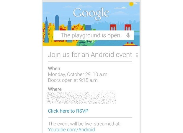 Google 'opens the playground' for an Android event October 29th
