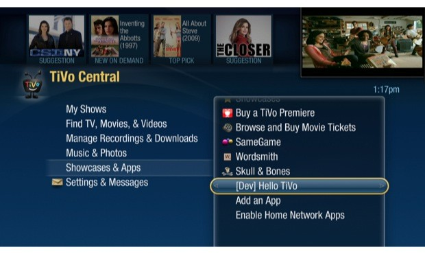 TiVo opens up Developer Channel, lets third parties create apps for your DVR