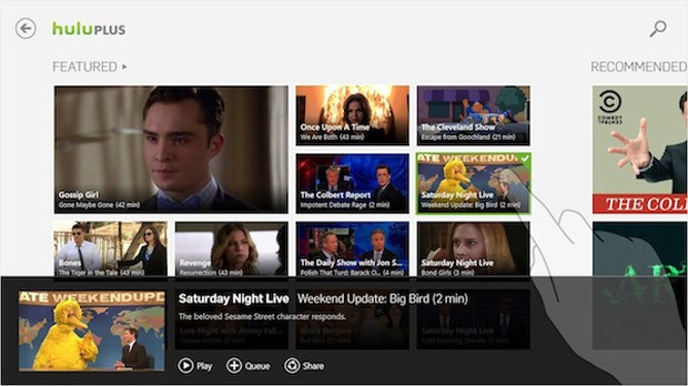 Hulu Plus app heads to Windows 8 tablets and tablets, tailored for new UI