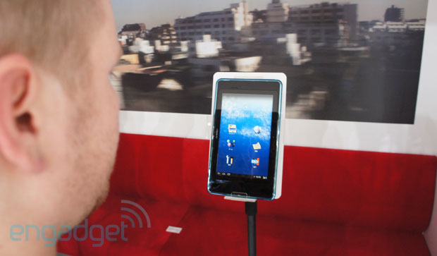 NTT DoCoMo's i beam tablet prototype is driven by your eyesvideo