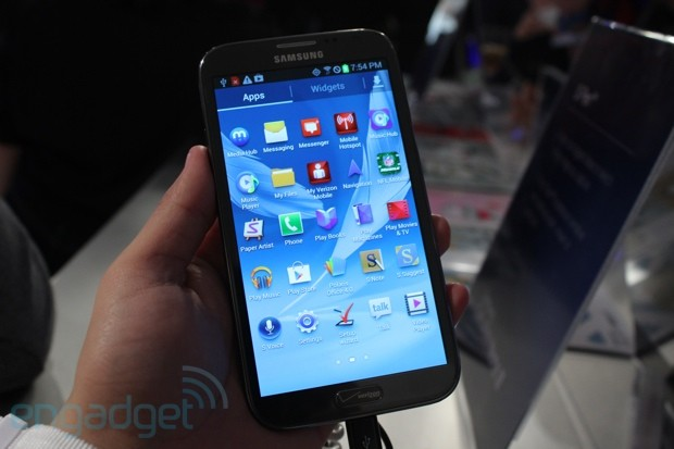 Samsung Galaxy Note II for Verizon handson
