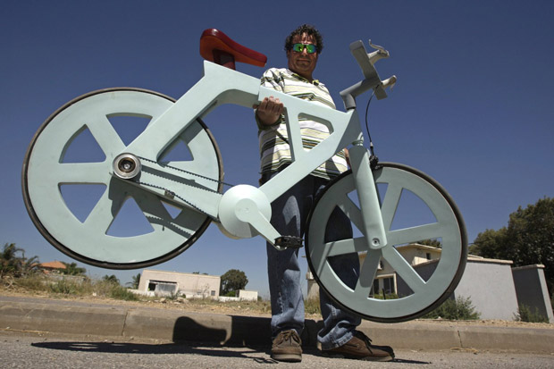Cardboard bicycle close to mass production, holds potential to change personal transportation