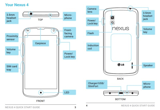 LG E960 support manuals confirm Nexus 4 name, 8GB and 16GB configurations