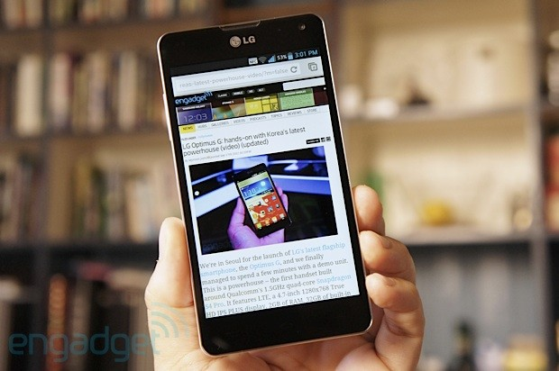 LG Optimus G review unbranded