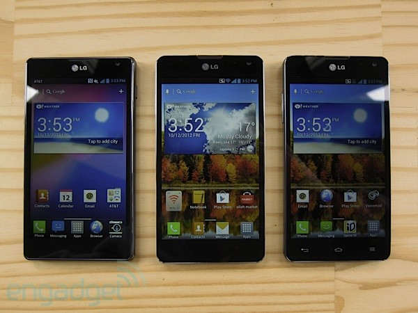 LG Optimus G for Olleh, AT&T and Sprint