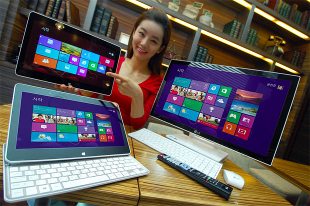LG announces Windows 8 slider laptop and allinone PC