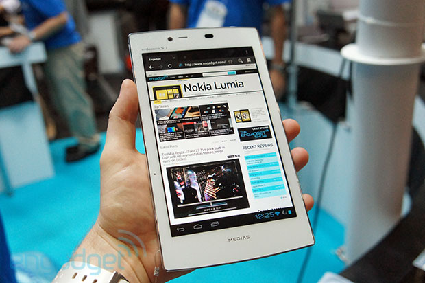 NEC Medias Tab UL runs Android 40, weighs just over half a pound handson