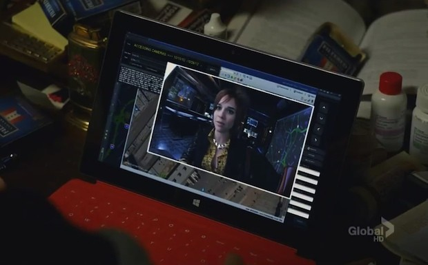 Screen Grabs Microsoft Surface goes to work on NCIS LA