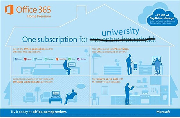 DNP Microsoft launches $80 Office 365 University fouryear subscription for highereducation students