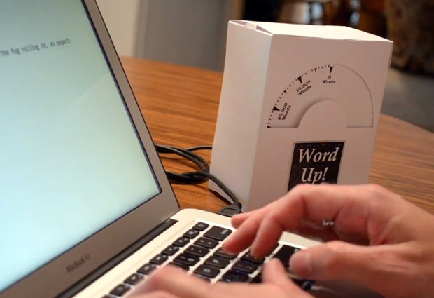 NaNoWriMo progress meter uses Arduino to overcome writer's block, may be its own distraction video