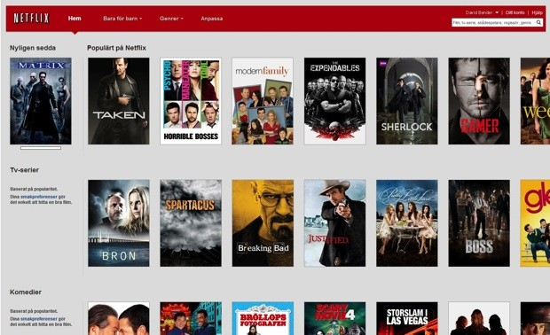 Netflix streaming launches in Sweden