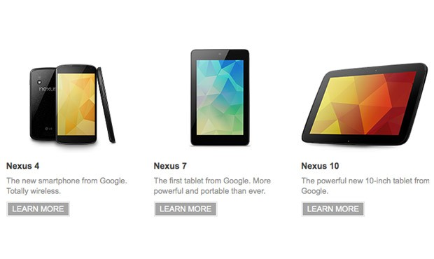 Google's refreshed Nexus 7 on sale now, Nexus 4 and Nexus 10 signup pages go live